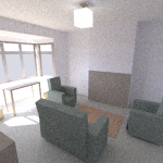 Room with sun and light, 800 paths per pixel