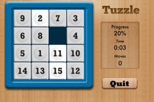Tuzzle singe-player screenshot